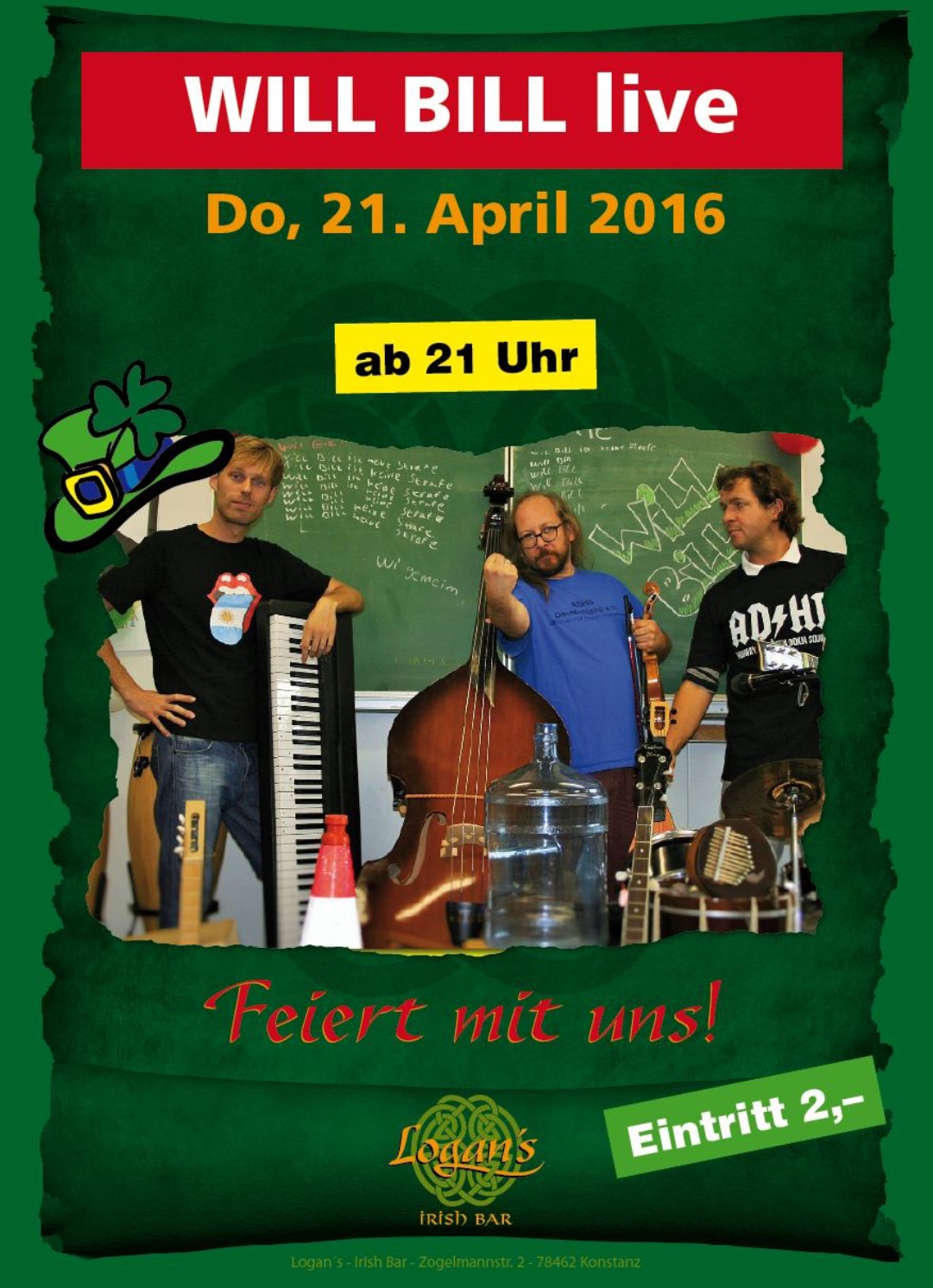 April 2016 Ab 2100 Uhr Logans Irish Pub Konstanz